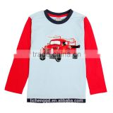 (A6059) new style cotton cheap clothes boutique car pattern casual o-neck t shirt baby boy long sleeve kids wear of nova brand