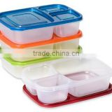 Bento Lunch Box Containers, FOOD CONTIANER with 3 dividers container
