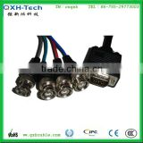 15pin Male VGA to 4 BNC Female Plug Cable