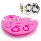 Christmas gifts HOT sell new design Food safe flexiable TPR romantic love ring shape ice tray