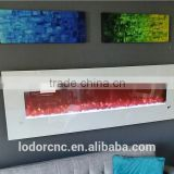 modern design wall wood burning electric fireplace from China                                                                         Quality Choice