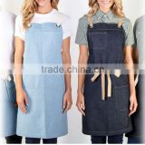 custom unisex denim work apron for wholesale