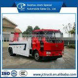 wrecker tow truck for sale/FAW J6 4X2 hanging joint wrecker truck,60 ton rotator tow truck for sale