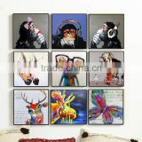 Monkey animal oil painting for living room wall decorative/Abstract oil paintings on canvas
