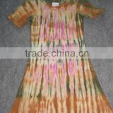 tie & dye knitted Long Tunics Dress in Single jersey Skinfitted vyokedress tightfit sexygirlsdress batik Tie &dye Indian handdye