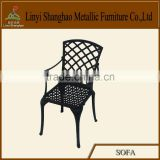 Hot sale! High fashion Die sand cast aluminum dining chair mobile home furniture home furniture