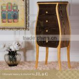 JH01-06 Belly Shaped Chest of Drawers Corner Cabinet Design Custom Cabinets Bedroom from JL&C Luxury Home Furniture