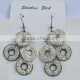 New design circle flowers crystal jewerly earrings