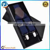 High Quality Real Leather Men Stretchable Suspender Promotional Gift Can Print Your Own Logo