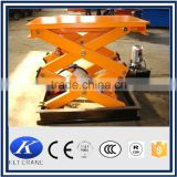 2m fixed stationary scissor lift platform