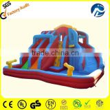 Outdoor and indoor inflatable kids water slide with pool