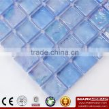 IMARK Iridescent Square Glossy Finish Glass Recycle Glass Mosaic Swimming Pool Tiles