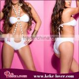 Summer Hot Sexy Women Swimwear White Triangle High Quality Girls Bikini Hot Sale Young Girls Swimwear