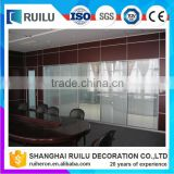 Aluminium entrance living room glass partition design