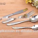 International Stainless Steel Flatware With Golden Handle