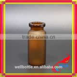 10ml glass bottle rubber stopper with chemical 10ml glass bottle for medical sterile bottle pill