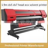 High Quality 1.6m JC-1700S DX5 and DX7 Printhead Eco Solvent Inkjet Prining Machine ( 1440dpi )
