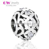 X328 Wholesale Cz Mirco Pave Beads Charm Sterling Silver 925