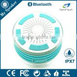 My speaker F013 white sky blue 5W powerful waterproof IP67 bluetooth speaker