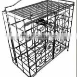 handmade iron crafts vintage bar furniture wrought iron bottle holder storage metal wine rack