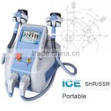 3000W Professional Multifunctional Shr Soprano Diode Laser Skin Hair Removal Ipl Machine Lady / Girl
