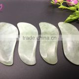 Chinese traditional physical therapy natual crystal amethyst jade stone guasha tools scrapping massager body massager