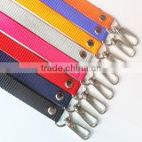 Shenzhen city factory bright single color silk-screen polyester lanyard