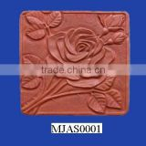New Product Unique Square Clay Flower Stepping Stone