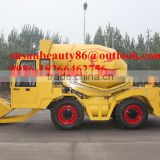 articulated rough terrain 4WD concrete mixer based on site dumper