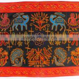 Home Decorative Indian Ethnic Embroidery Work Mirror work Cotton Wall Hanging Tapestry