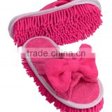 Europe Premium Grade Machine Washable 80%polyester+20%polyamide Indoor Dusting Mop Microfiber Chenille Floor Cleaning Slippers