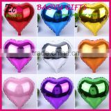 Metallic Heart shape helium Inflatable Foil Balloons party Decoration Foil Balloons wholesale