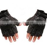 Wholesale Genuine leather Man Military Tactical half finger Gloves Army Sport Riding Gloves