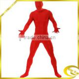 Top Selling Lycra Unisex Sexy Red Zentai Catsuit China
