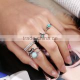 zm53235a hot sale decoration rings one set 5 pieces knuckle midi set ring