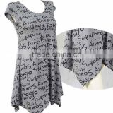 simple casual letter printing dress for women