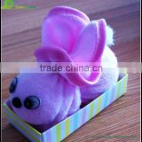 Cute bamboo fiber birthday rabbit cake towel wholesale Obediently rabbit cake towel wedding favor gift towel cake