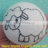 100% organic felt dryer balls/100% handmade natural felt dryer ball
