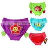 delicate embroidered baby swimming diaper pants