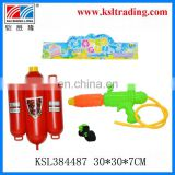kids plastic backpack pumping water gun