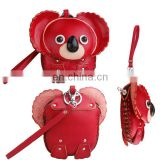 Cute Animal shaped squeeze pocket koala Coin Purse/small genuine leather cute girls fancy Coin Purse MCP-0010