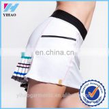 Yihao Custom Women White Tennis Skirt Sportswear Badminton Wear Dress Wholesale