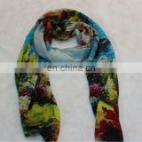 2014 digital printed artwork printed 100%silk scarf
