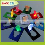 new product business gift led card light bulb shape flashing plastic card
