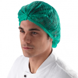 Disposalbe Hairnet, clip cap, nurse cap,18-21inch, single elastic