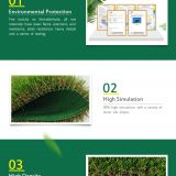 Plastic Artificial Vertical Green Plant Grass Wall For Decoration