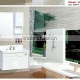 Modern Design Pakistan Style Color Mirror PVC cabinet with art basin and SS accessory