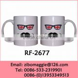 11oz Can Shape Custom Prited Ceramic Beer Cup for Wholesale Eco Ceramic Cup for Fathter Not Double Wall Cup