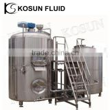 1000l Stainless steel beer steam jacketed whirlpool brew kettle