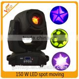 China supplies Art lighting moving head 150watt mini moving head projector